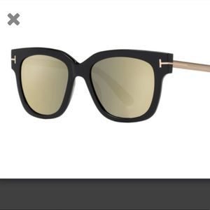 Tom Ford Tracy Sunglasses with mirrored lenses